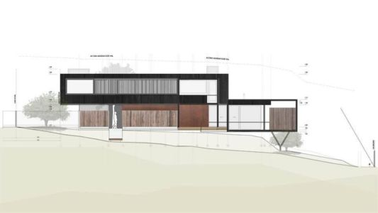plan 2D site - GB-House par EMA Arquitectos - Concón, Chili
