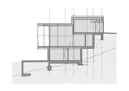 plan 2D site - Mountain-View House par SoNo arhitekti - Kitzbuehel, Slovénie
