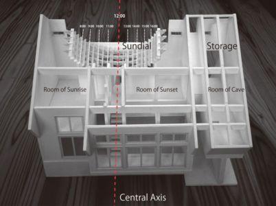 plan 3D - Passive-House par Kikuma Watanabe - Kasugoaka, Japon