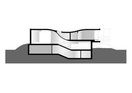 plan 3D - Villa-MQ par Office O architects - Belgique