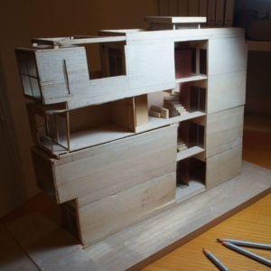plan 3D bois - NA-House par NatureArch Studio - HO Chi Minh, Vietnam