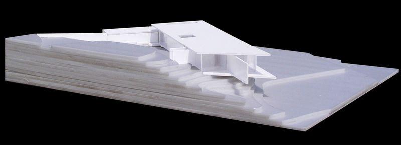 plan 3D site - Deolali House par Spam Design Architects - Deolali, Inde