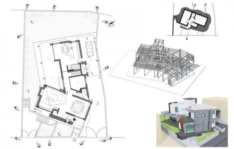 plan 3D site - tsikkinis par Tsikkinis Architecture Studio - Limassol, Chypre