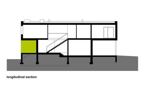 plan - Black Cube House par KameleonLab - Pologne
