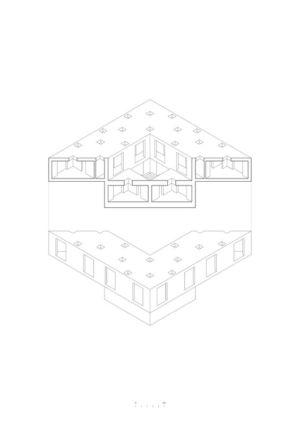 plan - Guna house par Pezo von Ellrichshausen - Llacolén, Chili