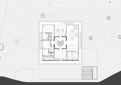 plan - House in Futrono par Cristián Izquierdo Lehmann - Chili