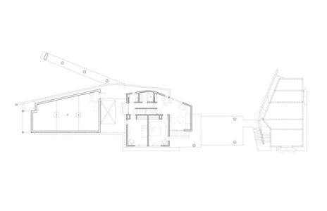plan - House of Shifting Sands par Ruhl Walker Architects - Wellfleet, Usa