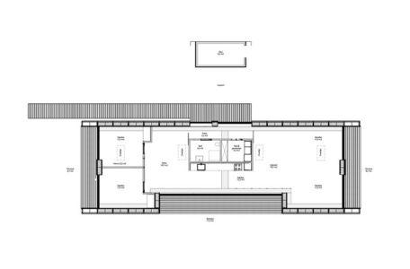 plan - La Casa de Libre Mantenimiento par Arkitema Architects  - Danemark