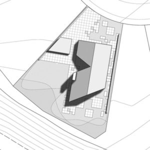plan - Maison G en brique contemporaine par KRADS - Danemark