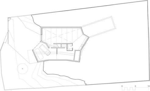 plan - Maison et atelier d'artiste par Miba architects - Gijón, Espagne