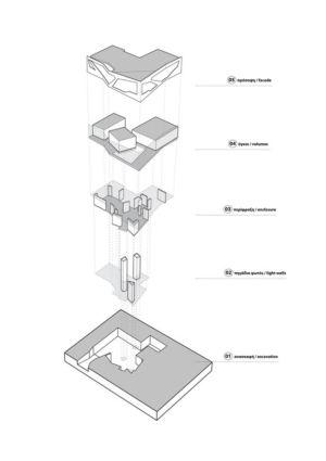 plan - Paradox house par Klab architecture - Athènes, Grèce