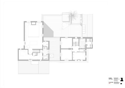 plan R1 - Rénovation Maison V - Olivier Chabaud Architecte - France