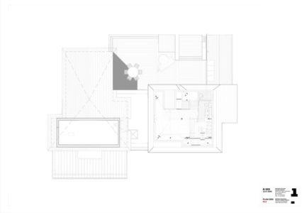 plan R2 - Rénovation Maison V - Olivier Chabaud Architecte - France