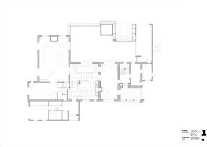 plan RDC - Rénovation Maison V - Olivier Chabaud Architecte - France
