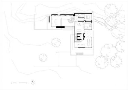 plan - The Dune Villa par HILBERINKBOSCH Architects - Utrecht, Pays-Bas