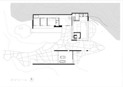 plan étage - The Dune Villa par HILBERINKBOSCH Architects - Utrecht, Pays-Bas