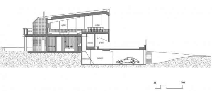 plan coupe - Aireys House par Byrne Architects -  Aireys Inlet, Australie