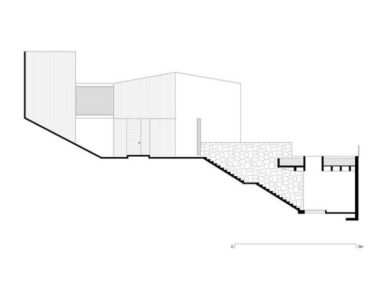 plan coupe - Casa Cardenas par ParqueHumano Valle de Bravo, Mexique
