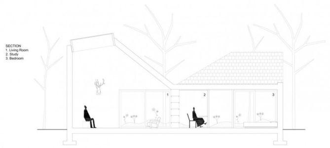 plan coupe - Huis voor Patrick par LOW Architecten - Belgique