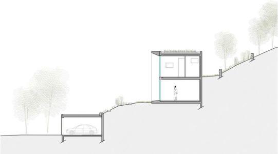 plan coupe - Maison Le Cap par Pascal Grasso - Var, France
