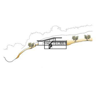 plan coupe - Notre Ntam' Lesvos Residences par Z-level à Agios - Fokas, Grèce