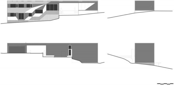 plan coupe - Southern outlet house par Philip M-Dingemanse - Launceston, Australie - photo Jonathan Wherrett