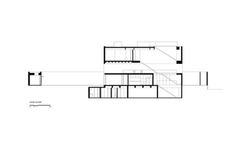 plan coupe - Tetris House par Studio mk27 - São Paulo, Brésil