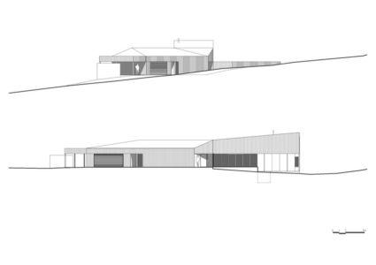 plan coupe entrée - Valley House par Philip M Dingemanse - Launceston, Australie