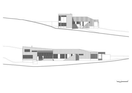 plan coupe façade - Valley House par Philip M Dingemanse - Launceston, Australie