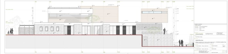 plan de coupe - Touristic Villa 'S, M, L' par studio SYNTHESIS - Tivat, Montenegro