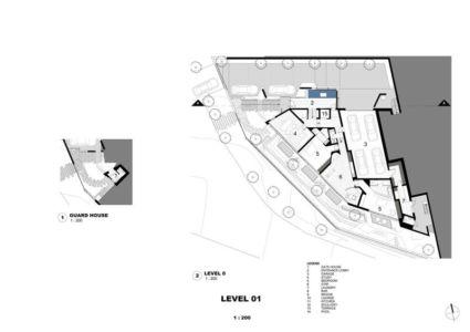 plan de masse - Clifton 2A par Saota - Le Cap, Afrique du Sud