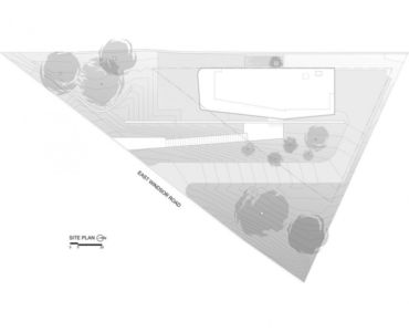 plan de masse - East Windsor Residence par Alterstudio - Austin, Usa - Photo Paul Finkel