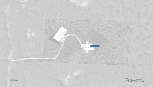 plan de masse - Hamptons Home In The Woods par Rangr Studio - Southampton, New York, Usa