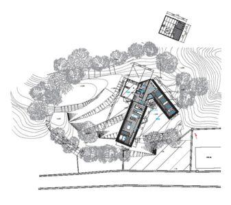 plan de masse - House In Itsuura par Life Style Koubou - Ibaraki Prefecture, Japon