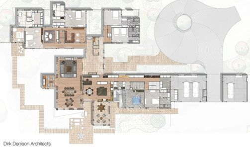 plan de masse - Illinois residence par Dirk Denison architects - Usa