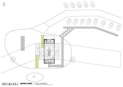 plan de masse - Infiniski Manifesto House par james&mau arquitectura  - Curacaví, Chili - photo Antonio Corcuera