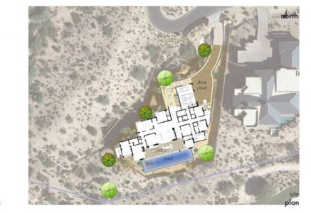 plan de masse - Kim Residence par Tate Studio Architects - Scottsdale, Usa