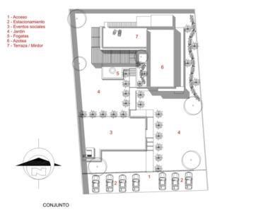 plan de masse - La Tomatina House par Plastik Arquitectos - Aguascalientes, Mexique