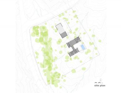 plan de masse - Levin Residence par Ibarra Rosano Design Architects - Marana, Usa
