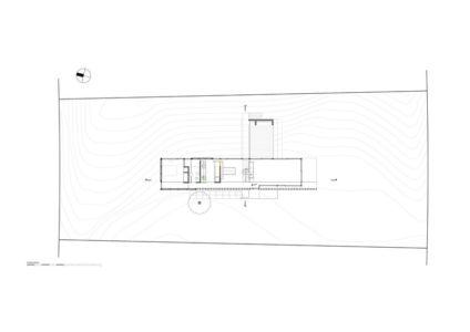 plan de masse - MR House par Luciano Kruk Arquitectos - La Esmeralda, Argentine