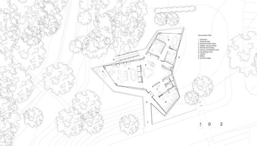 plan de masse - Maggie's Oxford  par Wilkinson Eyre Architects - Oxford, Royaume-Uni