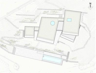 plan de masse - Maison Le Cap par Pascal Grasso - Var, France