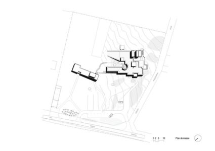 plan de masse - Maison Terrier par Bernard Quirot architecte + associés - Haute-Saône, France