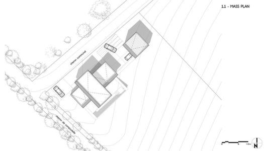 plan de masse - Maison l'Estelle par François Primault architecte - Moirax, France