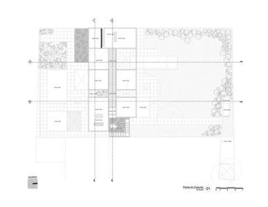 plan de masse - Montebello 321 par Jorge Bolio Arquitectura - Merida, Mexique