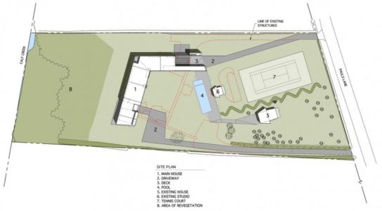 plan de masse - Mothersill par Bates Masi Architects - Water Mill, Usa
