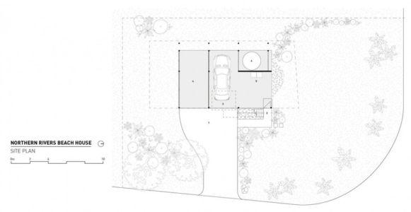 plan de masse - Northern Rivers Beach House par Refresh Architecture - South Golden Beach, Australie