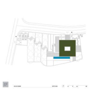 plan de masse - Olive House par LOG-URBIS - Pag, Croatie