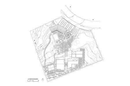 plan de masse - Pinar house par MO+G Taller de arquitectura - Zapopan, Mexique