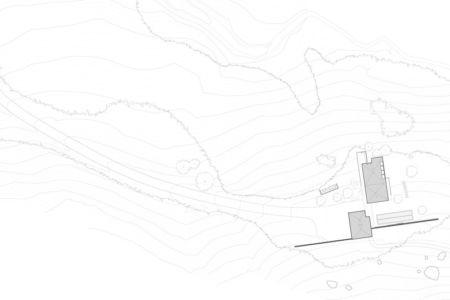 plan de masse - Red Rock House par Anmahian Winton Architects - Red Rock, Usa